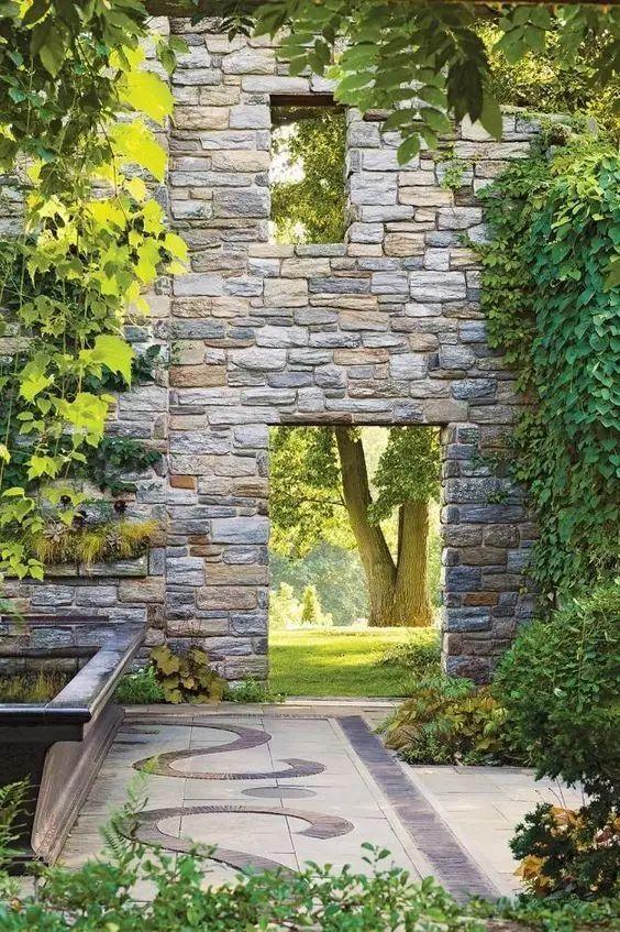 庭院石墙,原来可以那么美!