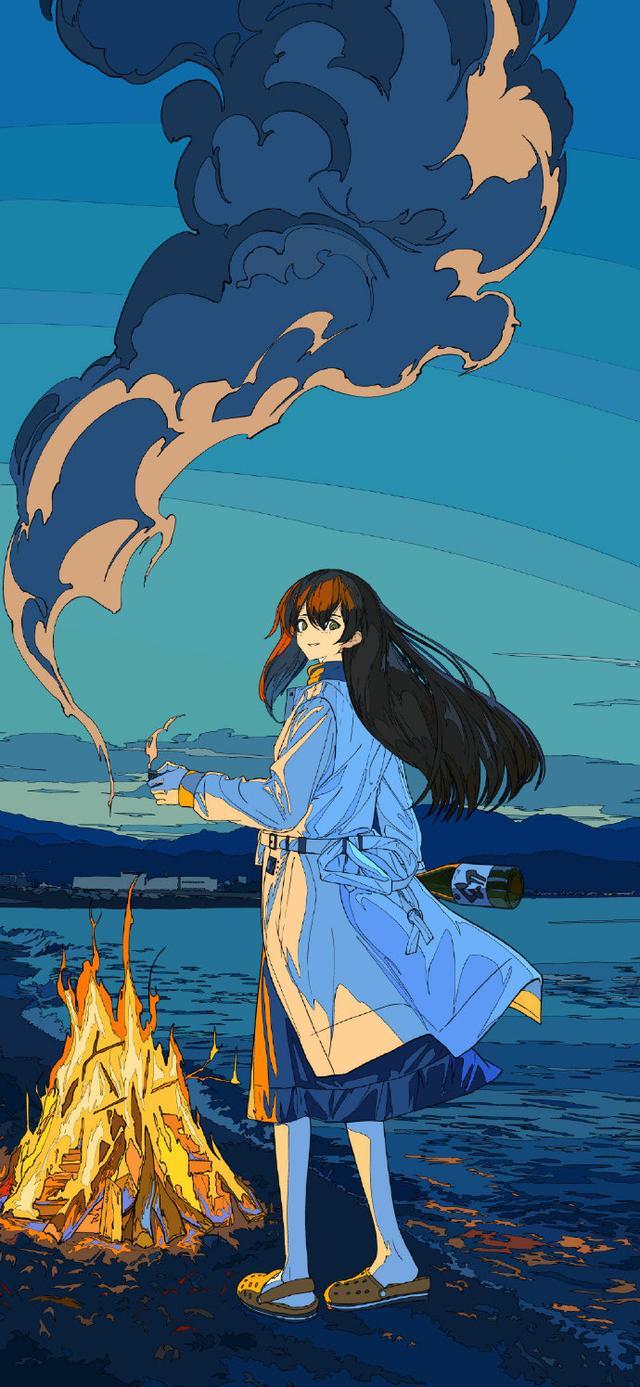 日系画风的小姐姐非常可爱